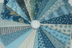 Something blue by Edyta Sitar of Laundry basket quilt for Andover