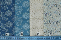 Références : A - B - C - D - Blue sky by Laundry Basket Quilts for ANDOVER