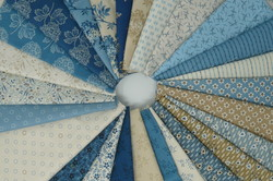 BLUE SKY BY LAUNDRY BASKET FOR ANDOVER FABRICS